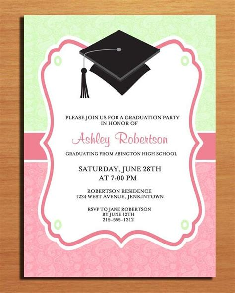 free graduation greeting card template paisley graduation invitation cards printable diy