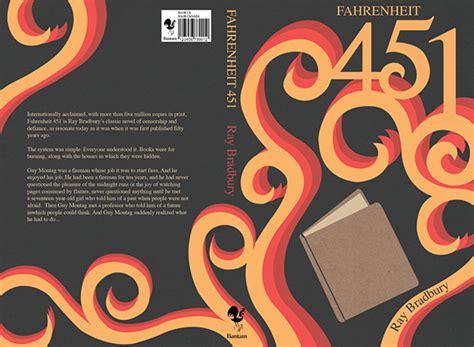 book report on fahrenheit 451 fahrenheit 451 book cover on behance