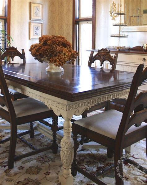 chalk paint dining room table painted furniture dining room table update dining room