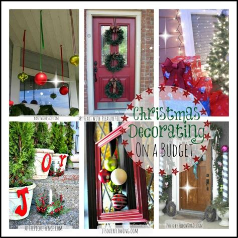 beautiful christmas collage of inexpensive decorating ideas
