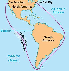 south america map cape horn the oregon trail was the route to the gold it