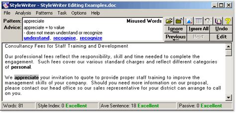 style writer stylewriter software to edit your business customer and government letters
