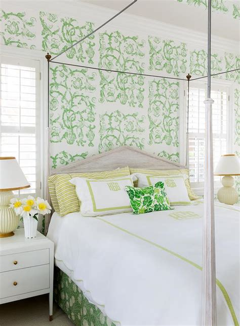 wallpaper green bedroom yellow and green bedroom with studio printworks syrie