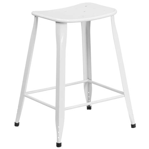 24 high counter stools 24 high white metal indoor outdoor counter height stool