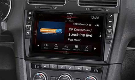 Autoradio X Golf 6 by Advanced Navi Station Alpine Style F 252 R Volkswagen Golf Vi