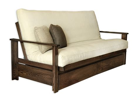 futon frame sizes sherbrooke with drawers frame and futon kit futon d or