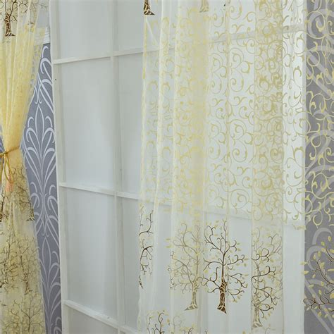 sheer curtains with beads ᗑnew curtains sunflower tulle tulle door window beads