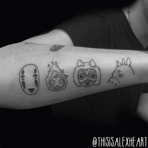 studio ghibli tattoo alex heart by helloalexheart on