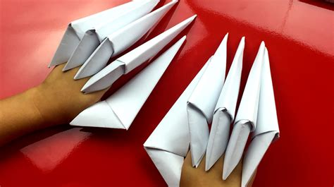 paper claws origami how to fold paper claws for hub