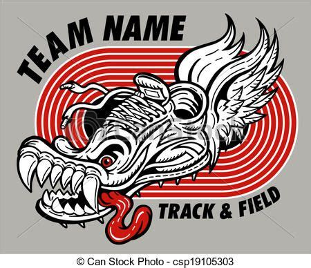 Field Designs Line For Payless by Vector Track And Field Design Stock Illustration