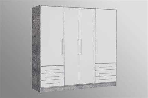 kleiderschrank jupiter wei 223 betonoptik sb m 246 bel discount - Kleiderschrank Betonoptik