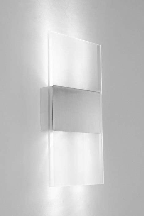 wandleuchte glas wandleuchte 70183 modern aluminium glas mit opalglas