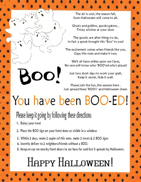 printable boo directions quot you ve been boo ed quot poem and direction printables been