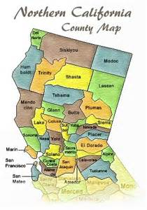 map of northern california counties northern california maps and california on