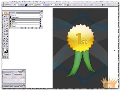 illustrator tutorial gold illustrator tutorial create a vector gold metal award badge