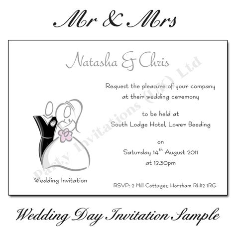 mr mrs wedding invitations mr mrs wedding invitations uk
