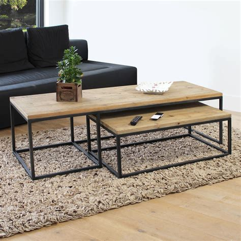 Op G G Nami Style Set table basse industrielle gigogne made in meubles