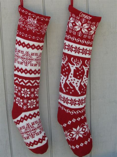 free knitting pattern for large christmas stocking different patterns of knitted christmas stockings