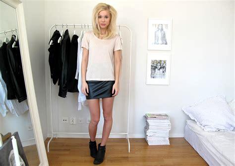 t 246 rnegren leather skirt lookbook