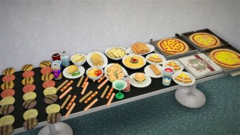 sims 4 food cc fast food and snacks buyable deco food at budgie2budgie