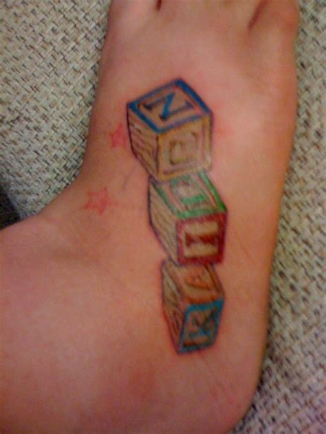 baby block tattoos i like this idea for a hmmm my inspirations