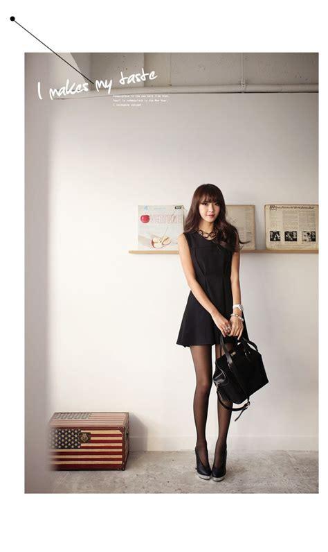 Wedges Transparan Fashion Korea 1 one black dress black black heels chic korean style gg s tiny times