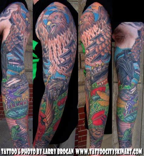 wildlife tattoo sleeve wildlife sleeve by larry brogan tattoonow