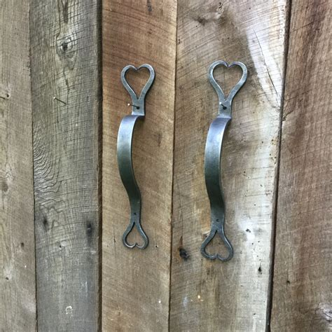 Door Pull Hand Forged Barn Door Handle Wrought Iron Hearts Wrought Iron Barn Door Handles