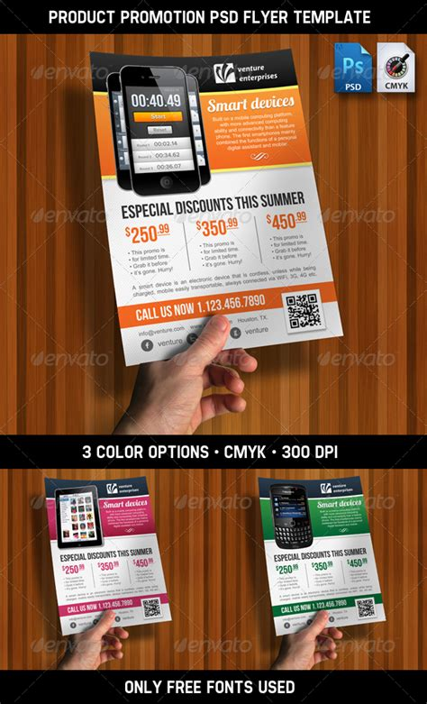 product promotion ad flyer psd template by