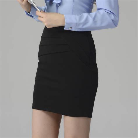 2017 2016 trendy elastic ruffles work skirts tight