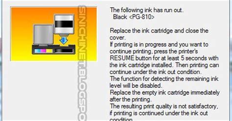 mengatasi resetter canon ip2770 not responding printer canon ip2770 cara mengatasi the following ink