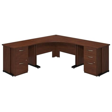 Corner Desk Cherry Bush Business Series C Elite 48w X 48d Corner Desk In Hansen Cherry Sre210hcsu