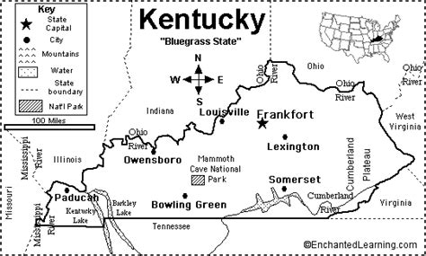 kentucky map capital kentucky map quiz