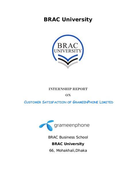 Internship report on customer satisfaction of grameen