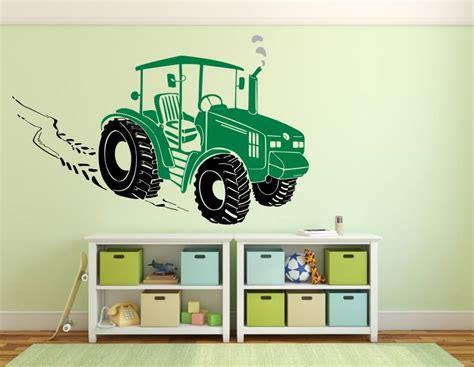 wandtattoo kinderzimmer junge fahrzeuge traktor wandtattoo