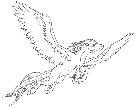 flying pony coloring pages pegasus flying by ninetales4ever on deviantart