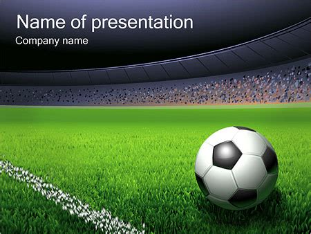 football themed powerpoint 2007 soccer ball and stadium powerpoint template backgrounds