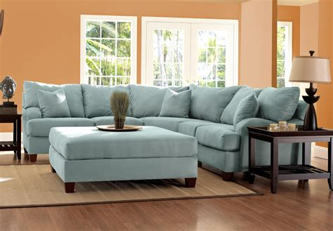 Light Blue Leather Sectional Sofa Light Blue Sofa Smalltowndjs