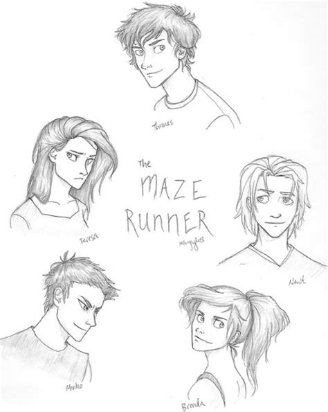 The Maze Runner characters | Maze runner characters, Maze