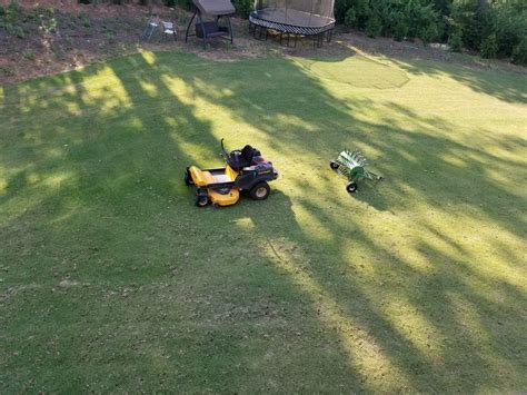rented  core aerator  home depot  lawn forum