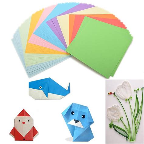 Color Paper Crafts - 100pieces set diy color paper origami paper craft fold