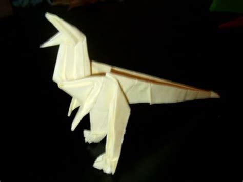 Origami Velociraptor - origami dinosaur raptor