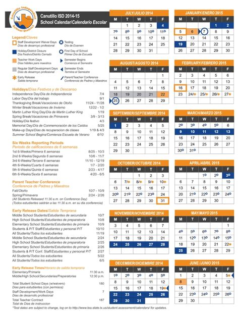 Cisd School Calendar 2016 17 Student Calendar Canutillo Middle School