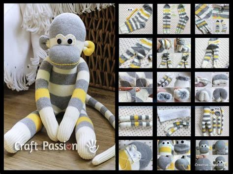 diy sock monkey tutorial so diy monkey sock sock monkeys friends
