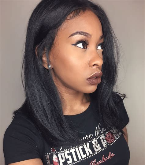 long bobs with weave long bob frontal unit with glowy makeup littlehoneybree