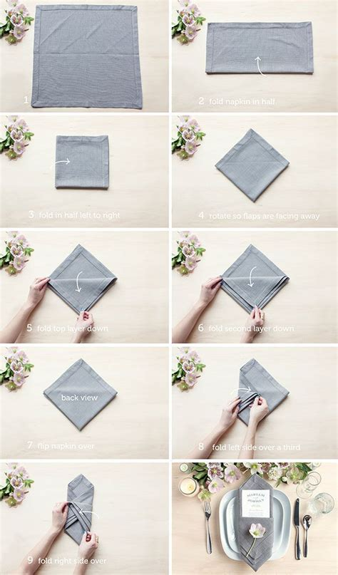 Easy Ways To Fold Paper Napkins - ways to fold a napkin rustic wedding chic