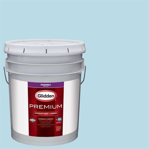 glidden premium 5 gal hdgb45u siesta key blue eggshell interior paint with primer hdgb45up