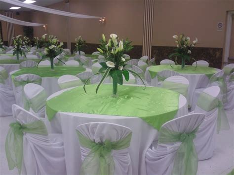 modern concept green wedding decorations with wedding