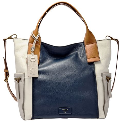 Fossil Emerson Satchel Black Large fossil emerson leather satchel in blue lyst