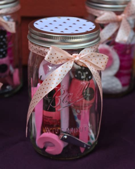 Backsplash Peel And Stick Manicure Or Pedicure In A Mason Jar Gift Idea Weekend Craft
